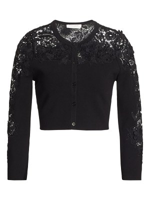 Carolina Herrera lace cropped cardigan