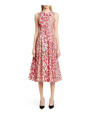 Carolina Herrera leopard a-line midi dress
