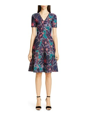 Carolina Herrera metallic oleander jacquard sweater dress