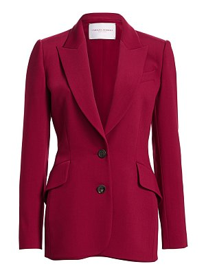 Carolina Herrera notched lapel wool-blend blazer jacket
