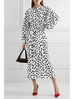 Carolina Herrera polka-dot crepe midi dress