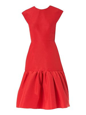 Carolina Herrera ruffle silk cocktail dress