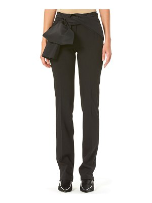 Carolina Herrera Sash-Waist Straight-Leg Pants