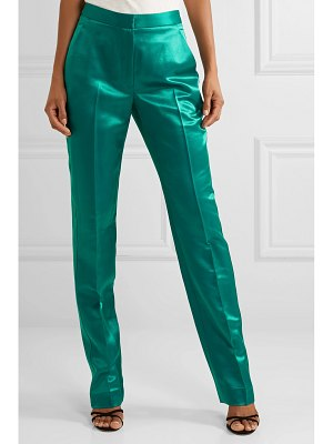 Carolina Herrera satin-twill straight-leg pants
