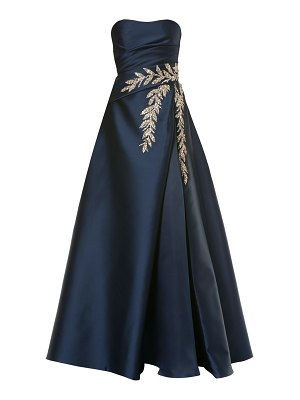 Carolina Herrera strapless embellished silk ball gown