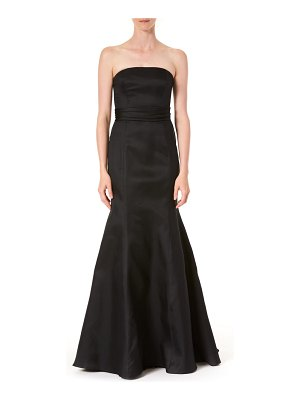 Carolina Herrera strapless silk trumpet gown