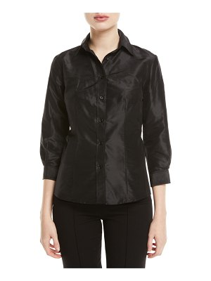Carolina Herrera Taffeta Button-Front Shirt