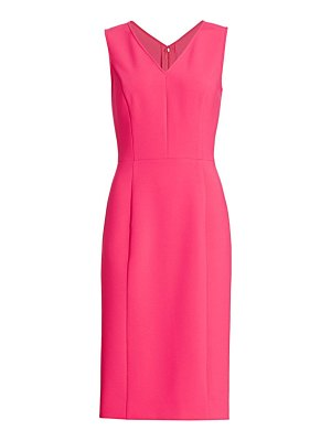 Carolina Herrera v-neck sheath dress