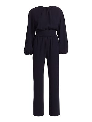 Carolina Ritzler belted billow long-sleeve jumpsuit