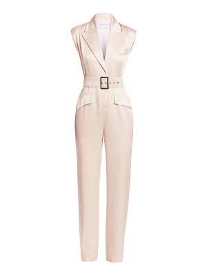 Carolina Ritzler collared satin jumpsuit
