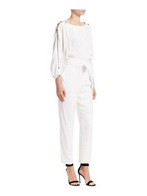 Carolina Ritzler long sleeve bateau neck jumpsuit