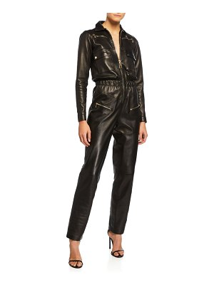 Carolina Ritzler Nakita Leather Utility Pocket Jumpsuit