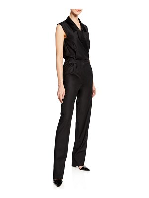 Carolina Ritzler Narjisse Sleeveless Tux Jumpsuit