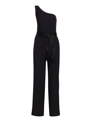 Carolina Ritzler one-shoulder belted jumpsuit