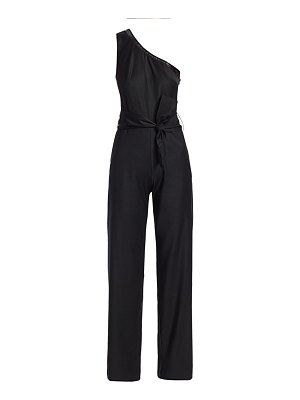 Carolina Ritzler one shoulder sequin trim jumpsuit