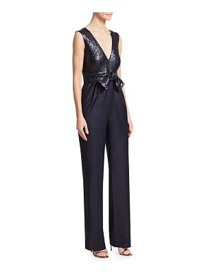 Carolina Ritzler sequin v-neck sleeveless jumpsuit