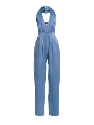 Carolina Ritzler silk halter jumpsuit