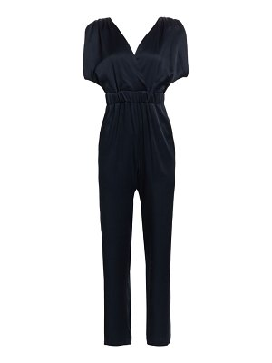 Carolina Ritzler v-back split sleeve jumpsuit