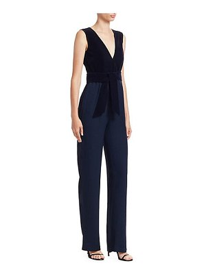 Carolina Ritzler velvet top sleeveless v-neck jumpsuit