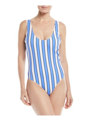 Caroline Constas Aristi Scoop-Neck Striped One-Piece Swimsuit