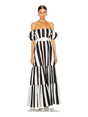 Caroline Constas bardot maxi dress