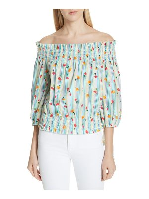 Caroline Constas lou off the shoulder crop top
