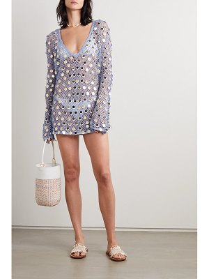 Caroline Constas paillette-embellished crochet-knit mini dress