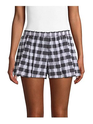 Caroline Constas pleated gingham shorts