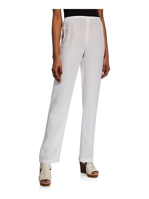 Caroline Rose Tissue Linen Straight-Leg Pants