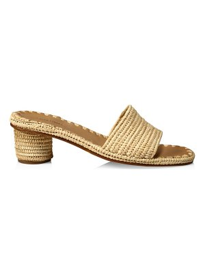 CARRIE FORBES bou raffia mules
