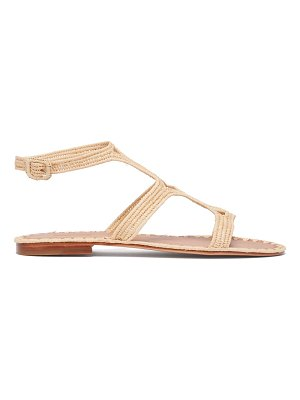 CARRIE FORBES hind raffia sandals