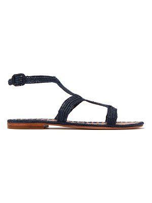 CARRIE FORBES hind raffia t bar sandals