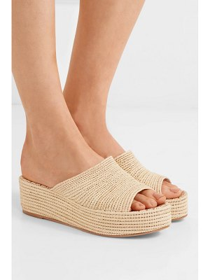 CARRIE FORBES karim woven raffia wedge sandals
