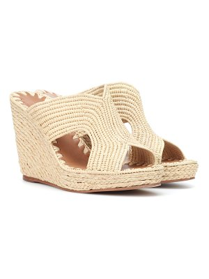CARRIE FORBES Raffia wedge sandals