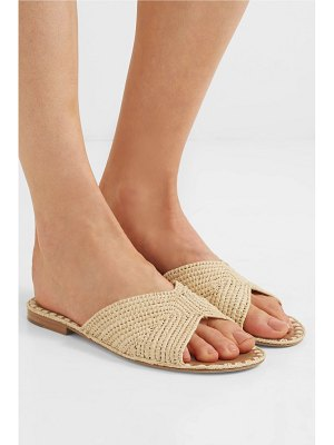 CARRIE FORBES salon woven raffia slides