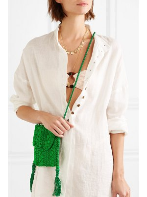 CARRIE FORBES youssef small crocheted cord shoulder bag