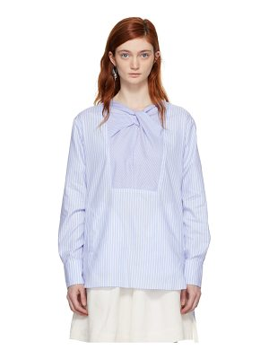 Carven and White Striped Blouse