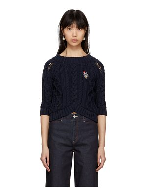 Carven Cable Crop Sweater