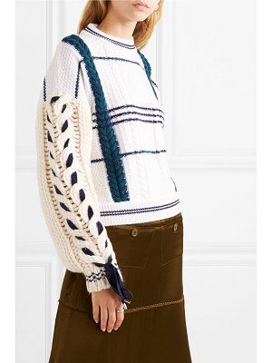 Carven cable-knit wool and alpaca-blend sweater