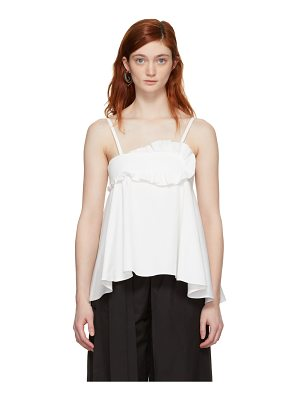 Carven Cotton Ruffled Tank Top