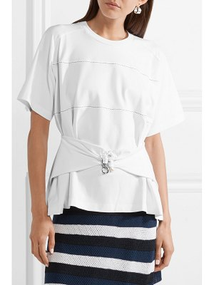 Carven embellished stretch-cotton jersey top