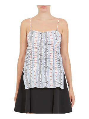 Carven jacquard ruched tank