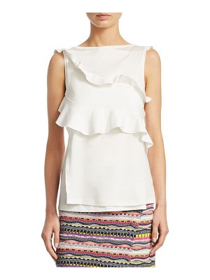 Carven Jersey Ruffled Tank Top