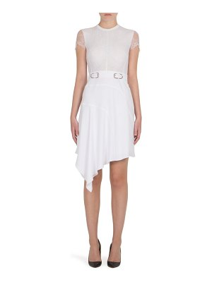 Carven Lace Belted Dress