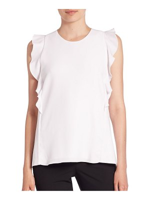 Carven Ruffled Sleeveless Top