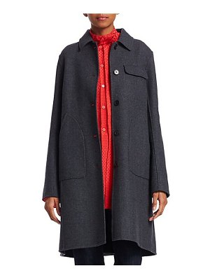 Carven wool-blend patch pocket coat