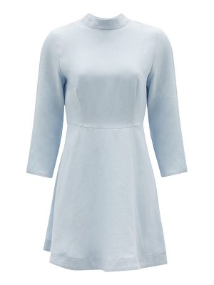 Casa Raki marcela high-neck organic-linen mini dress
