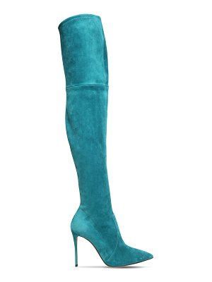 Casadei 100mm julia suede over-the-knee boots