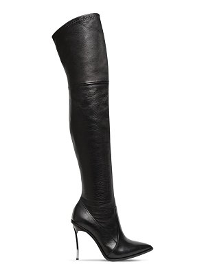 Casadei 100mm maxi blade stretch leather boot