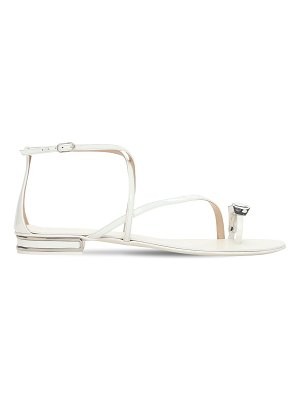 Casadei 10mm tiff leather thong sandals